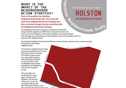 2016 Follow-up Report: Rolston Neighbourhood