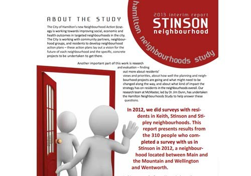 2013 Interim Report: Stinson Neighbourhood