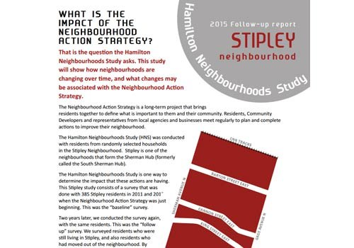 2015 Follow-up Report: Stipley Neighbourhood