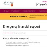 Emergency Financial Support for Students