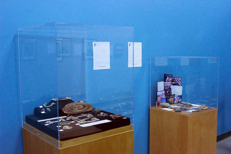 The Sustainable Archaeology displays for Art in the Workplace.