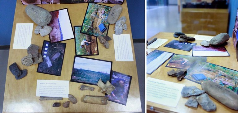 Snapshots of Ontario excavations and sites from the 1960s and 1970s provide a dynamic display with associated artifacts.